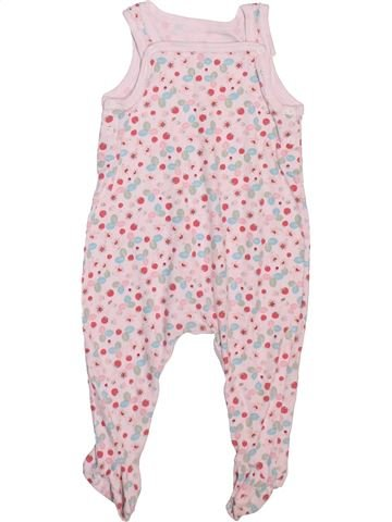 Pyjama 1 pièce fille PETIT BATEAU rose 6 mois été #1498912_1
