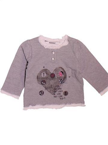 Camiseta de manga larga niña 3 POMMES gris 6 meses invierno #1498922_1