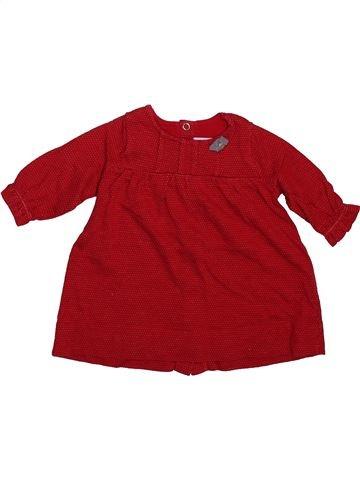 Robe fille PETIT BATEAU marron 3 mois hiver #1498927_1