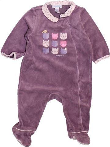 Pijama de 1 pieza niña OKAIDI violeta 6 meses invierno #1498930_1