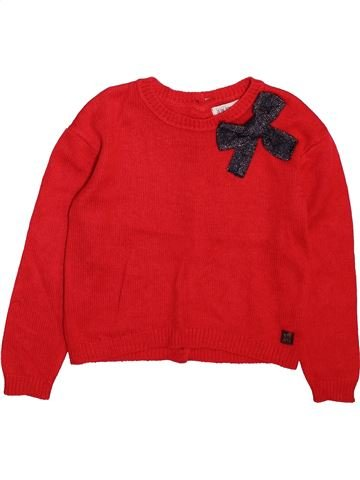 Pull fille JEAN BOURGET rouge 6 ans hiver #1498999_1