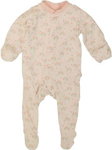 Pyjama 1 pièce fille BABY bleu 6 mois été #1499060_1
