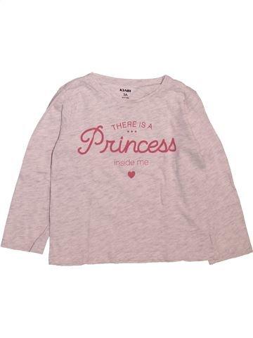 Camiseta de manga larga niña KIABI rosa 3 años invierno #1499066_1