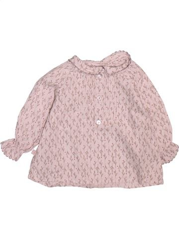 Blouse manches longues fille OKAIDI rose 6 mois hiver #1499218_1