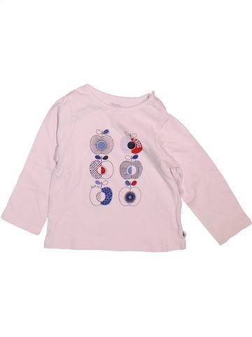 Camiseta de manga larga niña OKAIDI blanco 12 meses invierno #1499236_1