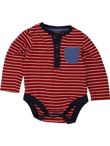 Camiseta de manga larga niño GEORGE rojo 12 meses invierno #1499485_1