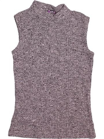 Camiseta sin mangas niña F&F gris 9 años verano #1499522_1