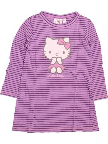 Camisón niña HELLO KITTY violeta 2 años invierno #1499584_1