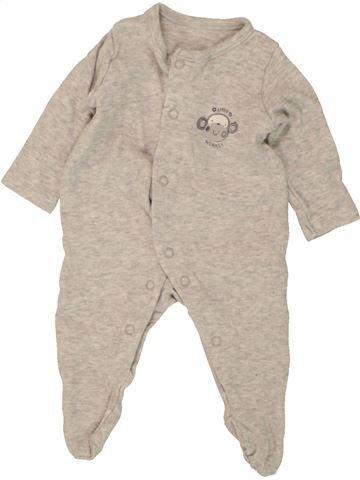 Pyjama 1 pièce garçon GEORGE gris 1 mois été #1499601_1