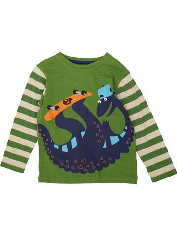 Camiseta de manga larga niño TU verde 4 años invierno #1499693_1