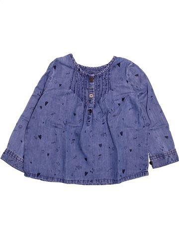 Blouse manches longues fille DPAM bleu 3 ans hiver #1499723_1