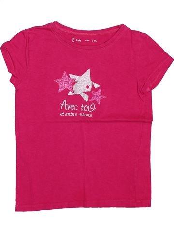 Camiseta de manga corta niña GEMO rosa 6 años verano #1499798_1