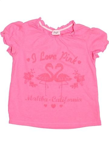 Camiseta de manga corta niña F&F rosa 2 años verano #1499811_1