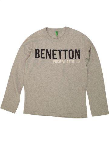 Camiseta de manga larga niño BENETTON gris 9 años invierno #1499830_1