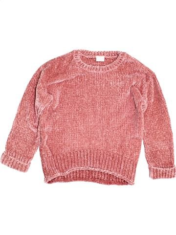 Pull fille F&F rose 10 ans hiver #1500033_1