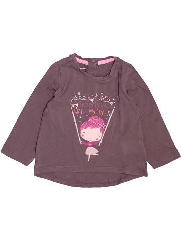 T-shirt manches longues fille VERTBAUDET violet 2 ans hiver #1500048_1