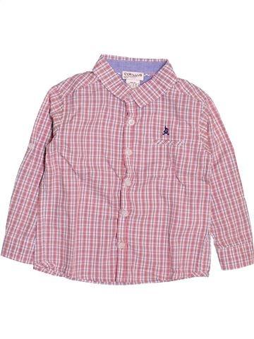 Camisa de manga larga niño CYRILLUS rosa 18 meses invierno #1500076_1