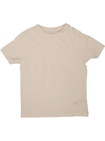 T-shirt manches courtes garçon F&F beige 7 ans été #1500077_1