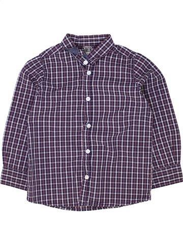 Chemise manches longues garçon TAPE À L'OEIL violet 3 ans hiver #1500315_1