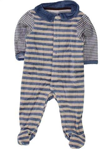 Pyjama 1 pièce garçon VERTBAUDET gris 3 mois hiver #1500382_1