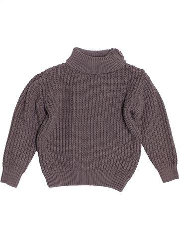 Pull garçon VERTBAUDET gris 8 ans hiver #1500624_1