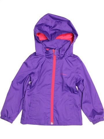 Anorak-Trinchera niña QUECHUA violeta 4 años verano #1500630_1
