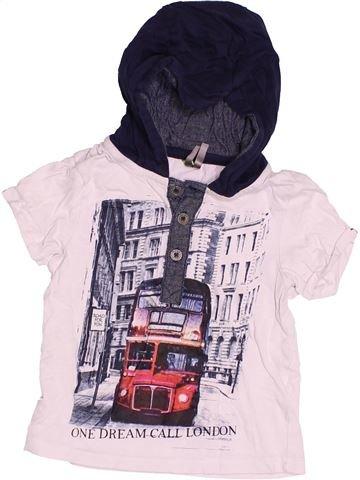 T-shirt manches courtes garçon ORCHESTRA blanc 18 mois été #1500815_1