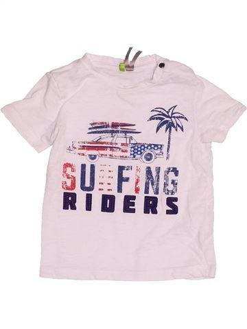 T-shirt manches courtes garçon ORCHESTRA blanc 18 mois été #1500834_1