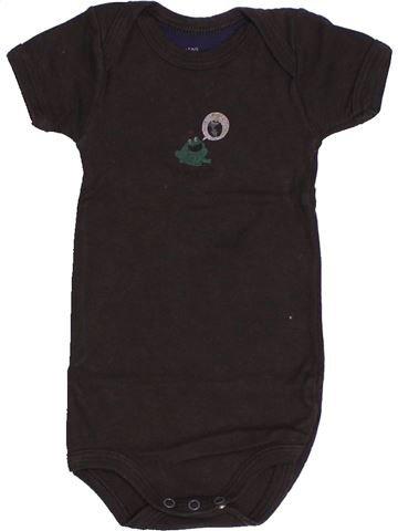 Camiseta de manga corta niño PETIT BATEAU marrón 3 meses verano #1500877_1