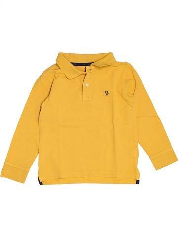 Polo de manga larga niño OKAIDI amarillo 5 años invierno #1501199_1