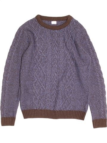 Pull garçon F&F violet 13 ans hiver #1501303_1