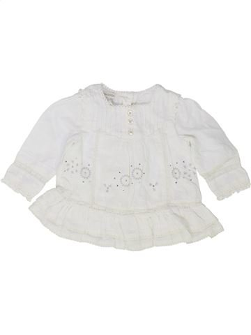 Blouse manches longues fille MONSOON blanc 6 mois hiver #1501560_1