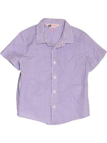 Camisa de manga corta niño H&M violeta 2 años verano #1501580_1