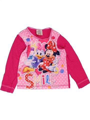 Camiseta de manga larga niña DISNEY rosa 2 años invierno #1501605_1