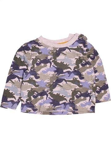 T-shirt manches longues garçon BABY gris 12 mois hiver #1501960_1
