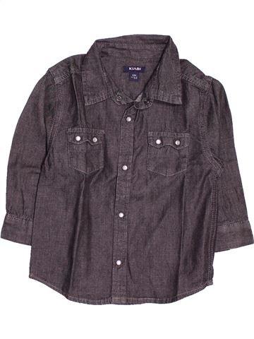 Chemise manches longues garçon KIABI gris 12 mois hiver #1502159_1