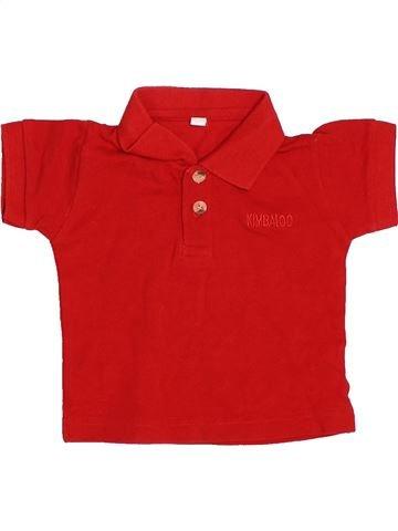 Polo manches courtes garçon KIMBALOO rouge 6 mois été #1502175_1