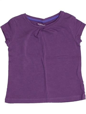 Camiseta de manga corta niña VERTBAUDET violeta 2 años verano #1502700_1