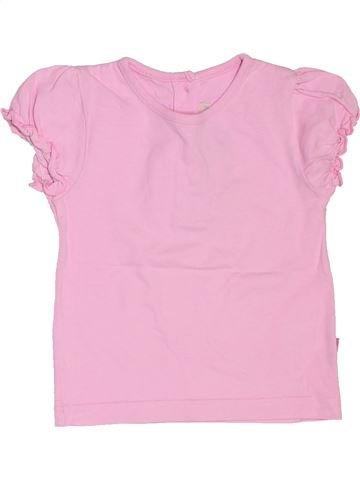 T-shirt manches courtes fille JOJO MAMAN BÉBÉ rose 18 mois été #1503349_1