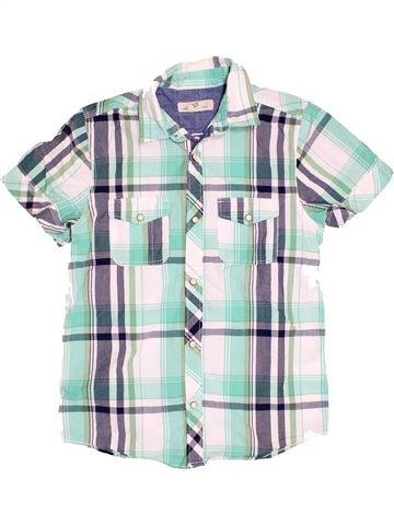 Chemise manches courtes garçon H&M blanc 13 ans été #1504701_1
