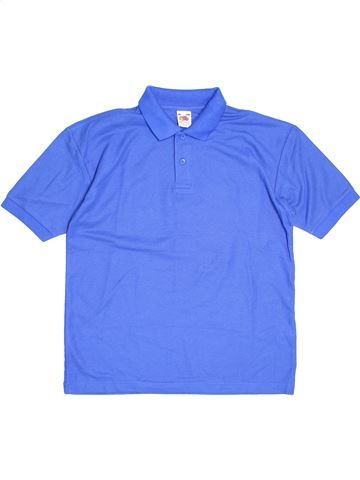 Polo manches courtes garçon FRUIT OF THE LOOM bleu 13 ans été #1504884_1