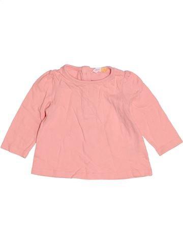 T-shirt manches longues fille JOHN LEWIS rose 3 mois hiver #1504986_1