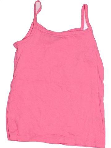 T-shirt sans manches fille F&F rose 7 ans été #1505268_1