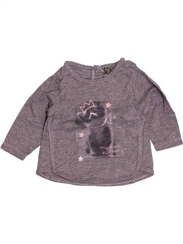 Camiseta de manga larga niña TAPE À L'OEIL gris 3 meses invierno #1505677_1