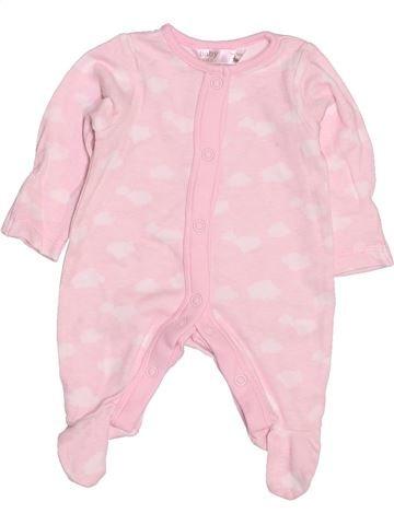 Pyjama 1 pièce fille M&CO rose prématuré été #1506368_1