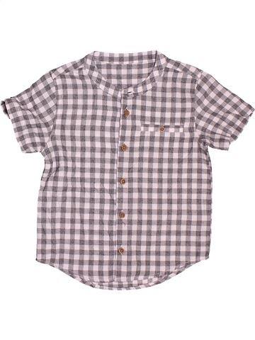 Blouse manches courtes fille MATALAN violet 3 ans été #1506534_1