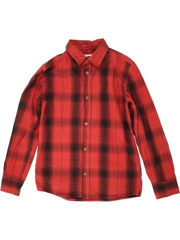 Chemise manches longues garçon GEMO rouge 10 ans hiver #1507218_1