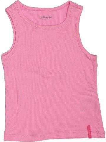 T-shirt sans manches fille VERTBAUDET rose 18 mois été #1507240_1