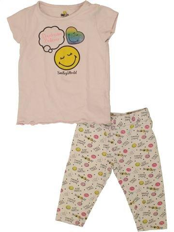 Pyjama 2 pièces fille SMILEY beige 2 ans été #1507254_1
