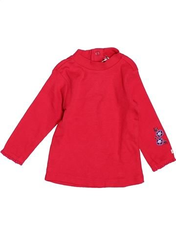 T-shirt col roulé fille ORCHESTRA rouge 9 mois hiver #1507425_1